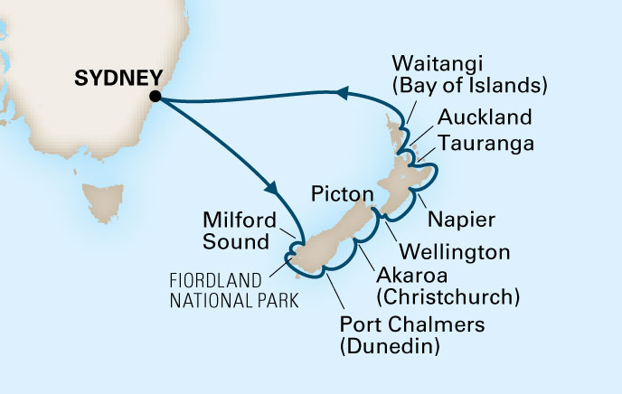 Holland America New Zealand Cruise Destination Ports