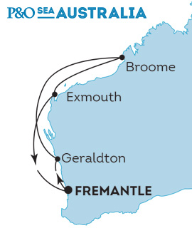 P&O The Pacific Eden - Cruise Coral Coast Western Australia